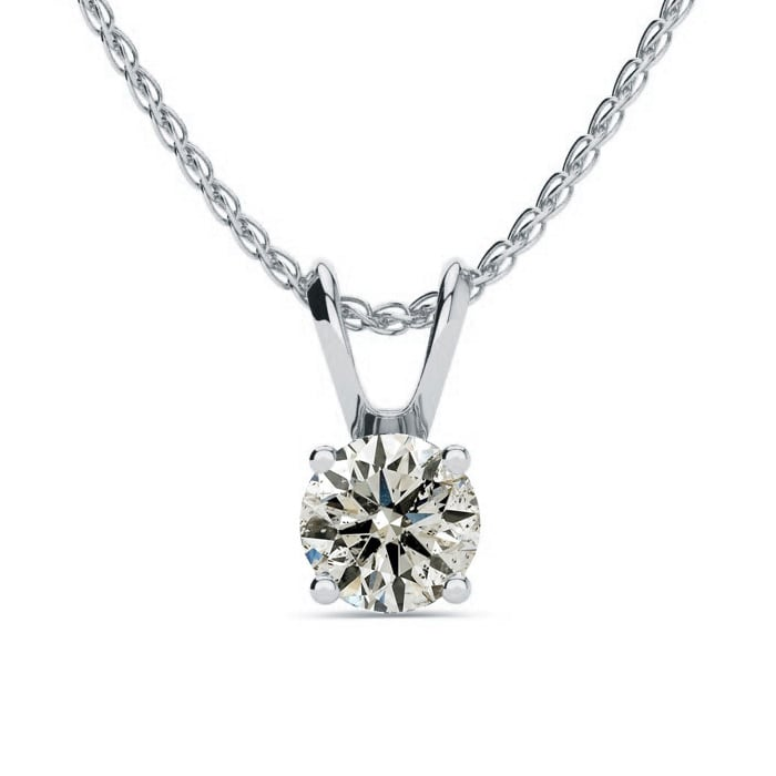 147f2c6cda 1/2ct Diamond Solitaire Pendant in 14k White Gold, Featured On The Doctors!  Beautiful Fiery Diamond Necklace!