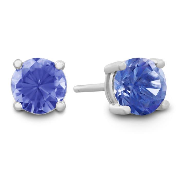 1 2 Carat Tanzanite Stud Earrings In Sterling Silver Blue Gemstones Best Jewelry Deals