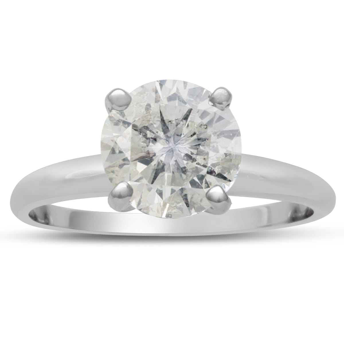 250 Carat Round Cut Diamond Solitaire Engagement Ring, Hi Color, I1i2  Clarity Item Number: Jwl 12583