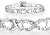 Infinity I Love You Forever In This 8 Diamond White Gold Plated Bracelet