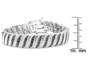 1 Carat Black Diamond Wave Bracelet, 7 Inches