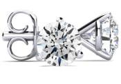 4 Carat Diamond Martini Set Diamond Stud Earrings (F-G Color, SI2-SI3 Clarity)