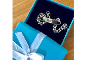 Ladies and Mens Stainless Steel ID Bracelet With Free Custom Engraving, 7.5 Inches