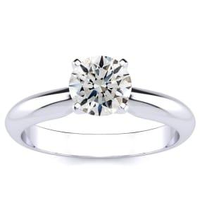 1 Carat Diamond Engagement Ring In Platinum