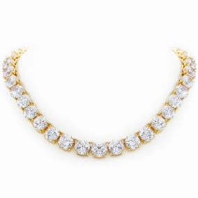 Fine Clear Crystal Line Necklace, 16 Inches