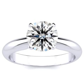 1 ½ Carat Round Diamond Solitaire Ring in Platinum