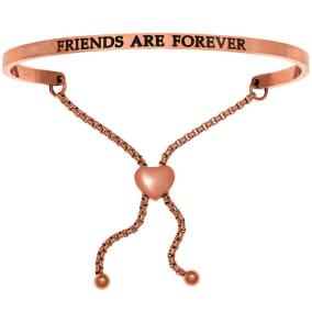 """Rose Gold """"FRIENDS ARE FOREVER"""" Adjustable Bracelet"""