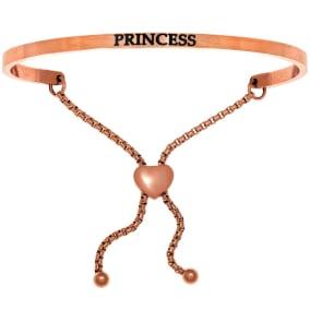 """Rose Gold """"PRINCESS"""" Adjustable Bracelet"""