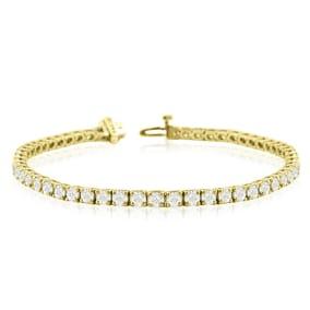 10 1/3 Carat Diamond Tennis Bracelet In 14 Karat Yellow Gold, 9 Inches