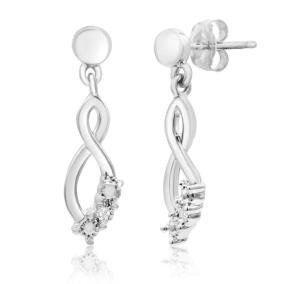 Diamond Accent Infinity Dangle Earrings