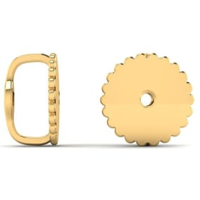14 Karat Yellow Gold Screwback Earring Backs, 1 Pair