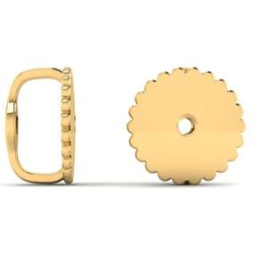 18 Karat Yellow Gold Screwback Earring Backs, 1 Pair