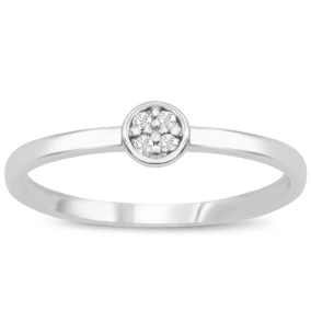 4 Diamond Promise Pave Ring in White Gold