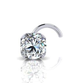 0.03ct 2mm Diamond Nose Ring In 14K White Gold