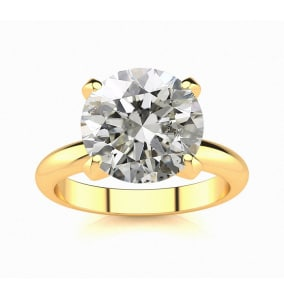 3 Carat Diamond Solitaire Engagement Ring In 14K Yellow Gold