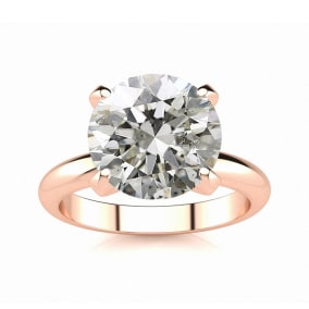3 Carat Diamond Solitaire Engagement Ring In 14K Rose Gold