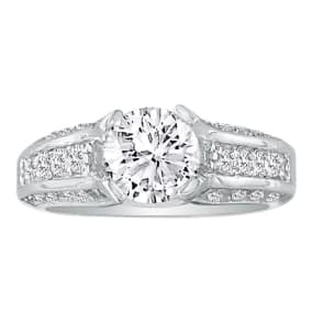Hansa 1 3/4ct Diamond Round Engagement Ring in 14k White Gold, H-I, SI2-I1,  CLEARANCE SZ6.5-7