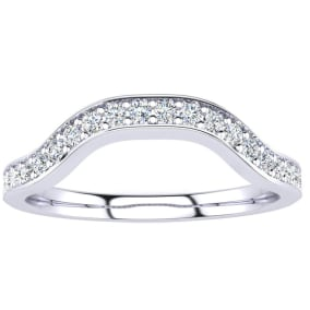 1/4ct Diamond mathing Wedding Band for  Double Halo Massive Looking Princess Cut Engagement Rings In 14K White Gold