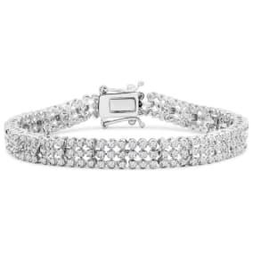 3 Carat Diamond Tennis Bracelet In Platinum Overlay