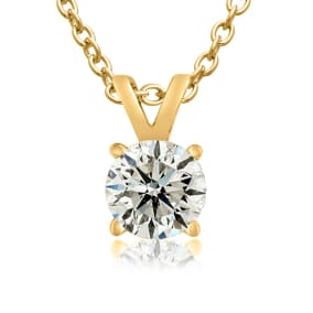 1/2ct 14k Yellow Gold Genuine Natural Colorless Diamond Necklace. Amazing Special Introductory Price!