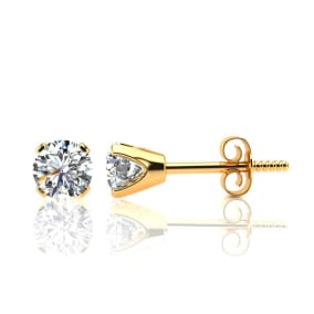 82ea742db 1.30 Carat Colorless Diamond Studs In Solid 14K Yellow Gold. First Time  Offered At This Very Special Price!