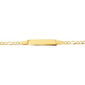 14 Karat Yellow Gold Kids ID Link Bracelet, 6 Inches