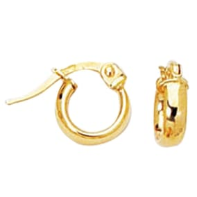 14 Karat Yellow Gold Kids Hoop Earrings