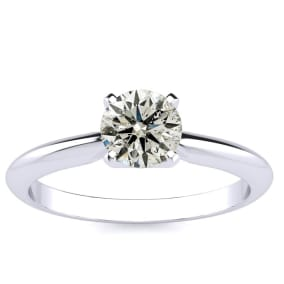 3/4 Carat Colorless Diamond Solitaire Ring in 14K White Gold
