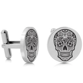 Octavius Skull Cufflinks, Silver