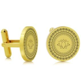 Octavius Chakra Cufflinks, Yellow Gold