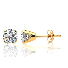1.30 Carat Colorless Diamond Stud Earrings In 14 Karat Yellow Gold. Incredible Blowout Price! Limited Quantity!