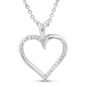 One Diamond Classic Heart Necklace, 18 Inches.  Very Cute and Shiny!