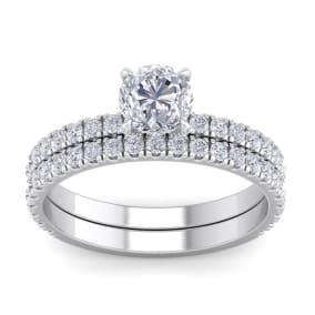 2 Carat Round Shape Diamond Bridal Set In Platinum