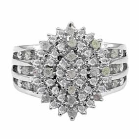 Important and Fabulous Nearly 1/2 Carat Diamond Cocktail Ring. Huge Amazing Ring!