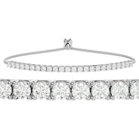 2 Carat Diamond Bolo Tennis Bracelet In 14 Karat White Gold, Adjustable 6-9 inches. New And Very Popular!