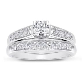 1/4ct Ladies Traditional Diamond Bridal Set in 1.4 Karat Gold™