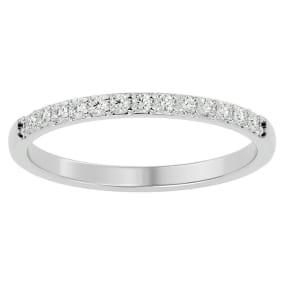 1/4 Carat Diamond Wedding Band In 14 Karat White Gold
