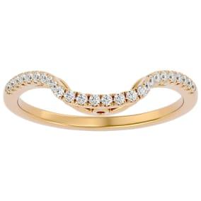 1/4 Carat Diamond Wedding Band In 14 Karat Yellow Gold