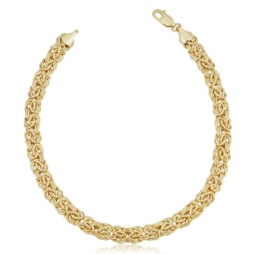 6mm Byzanite Chain Bracelet, 8 1/2 Inches, Yellow Gold