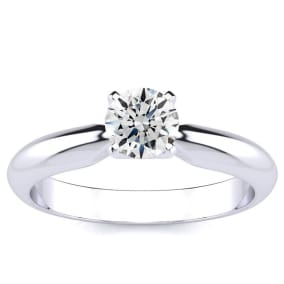 Exclusively Superjeweler. 1/2 Carat Ring In Solid 1.4 Karat Gold™ This Is An Amazing Bargain On A Genuine, Earth-Mined Diamond!