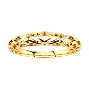 Matching Vintage Engagement Wedding Band In 14 Karat Yellow Gold