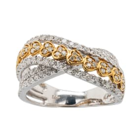 Previously Owned 1 Carat Diamond Band Ring In 14 Karat Two Tone Gold