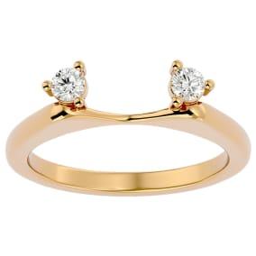 1/5 Carat Moissanite Ring Enhancer For 1 Carat Solitaire In 14 Karat Yellow Gold