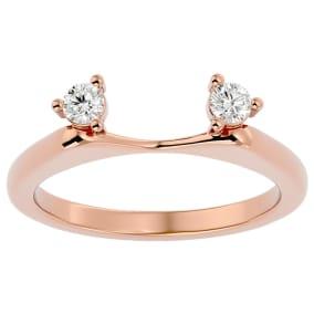 1/5 Carat Moissanite Ring Enhancer For 1 Carat Solitaire In 14 Karat Rose Gold