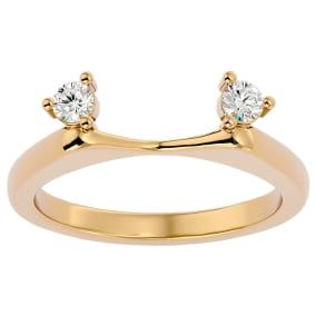 1/5 Carat Moissanite Ring Enhancer For 1 1/2 Carat Solitaire In 14 Karat Yellow Gold