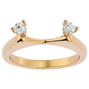 1/5 Carat Moissanite Ring Enhancer For 2 Carat Solitaire In 14 Karat Yellow Gold