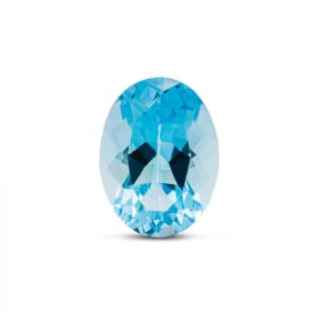 Previously Owned 11 1/2 Carat Oval Shape Blue Topaz (16x12mm)