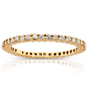 Previously Owned 3/4 Carat Diamond Eternity Ring In 14 Karat Yellow Gold, Size 7