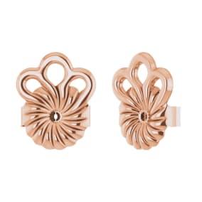 14K Rose Gold 8mm Earring Stabilizer Backs For Heavy Earrings