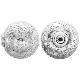 Sterling Silver 12mm Glitter Earring Backs For Heavy Earrings